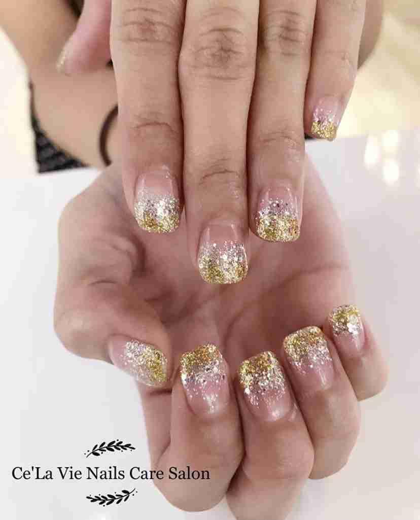 Ce' La Vie Nails Care Salon Pink Nail Art Design