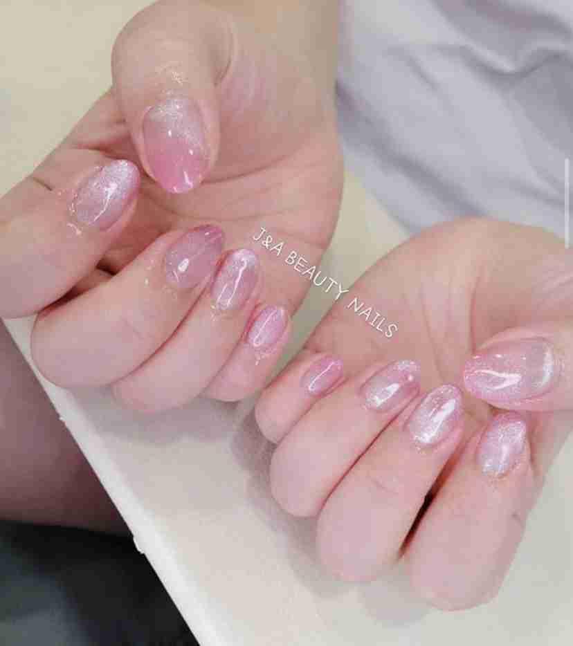 J&A Pink Nail Art Design