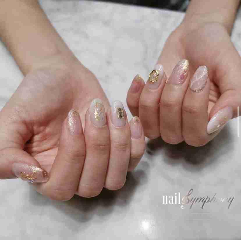 Nail Symphony Pink Nail Art Design