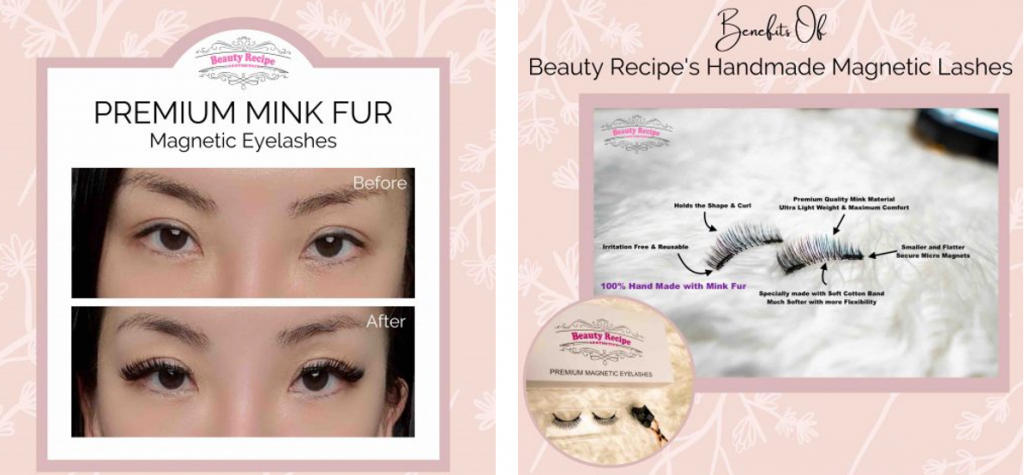 Win a free set of premium magnetic eyelashes from beauty recipe for our VaniZine readers
