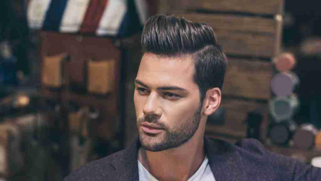 Side Part Pompadour Hairstyles Men